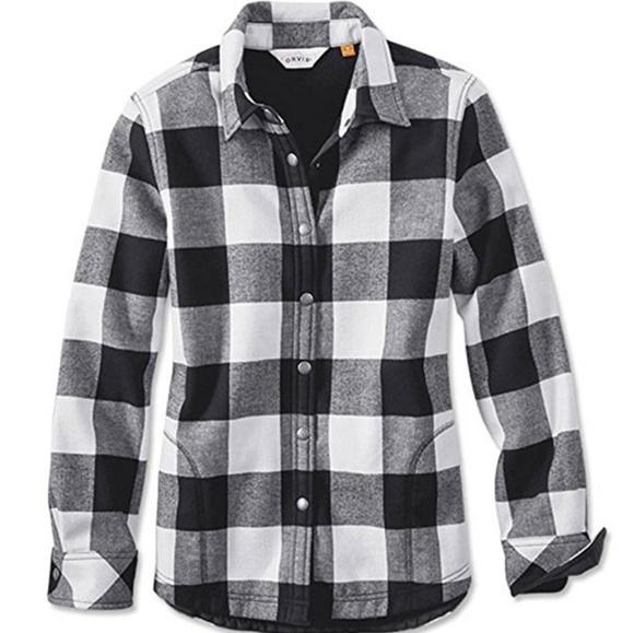 07ce2e3985 NEW Orvis Women s Tetons Flannel - Fleece Jacket L